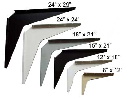 Workstation and counter support brackets for Cantilever counter support